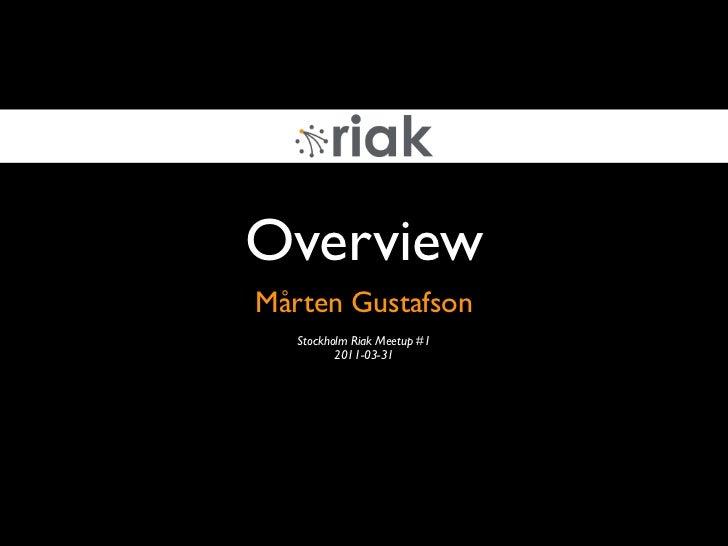 2011 03-31 Riak Stockholm Meetup