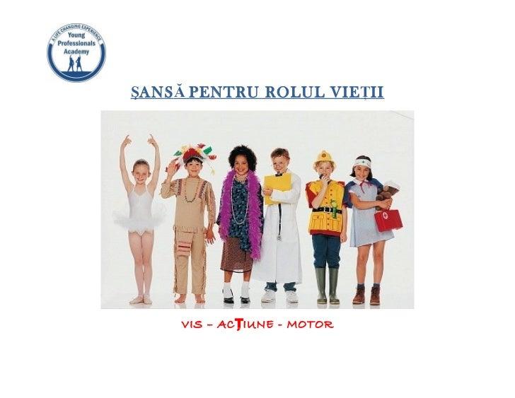 2011.04.08 Sansa pentru rolul vietii - descriere proiect