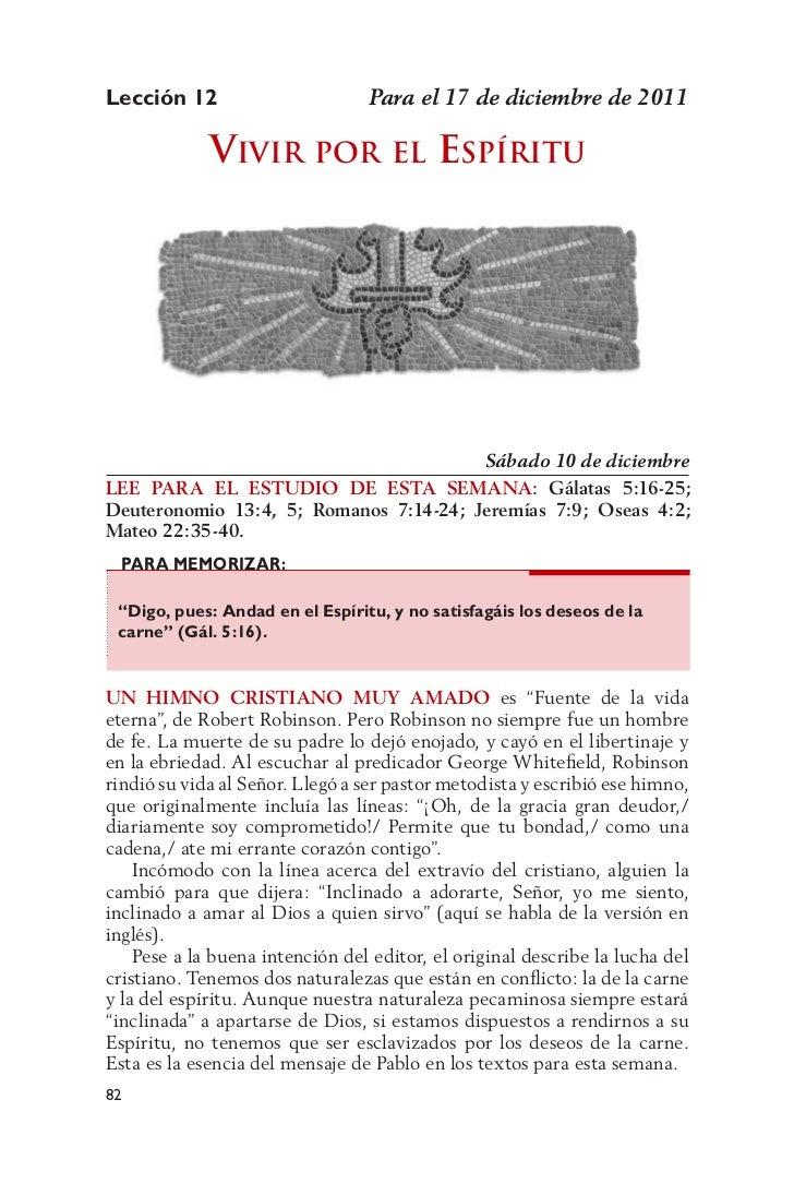 Lección 12                       Para el 17 de diciembre de 2011             vivir Por              El    EsPíritu        ...