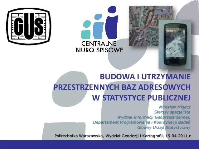 Budowa i utrzymanie przestrzennych baz adresowych w statystyce publicznej