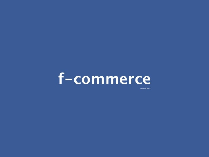 F-Commerce - Portuguese