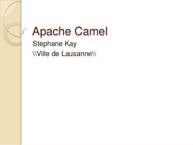Apache Camel Stephane Kay Ville de Lausanne