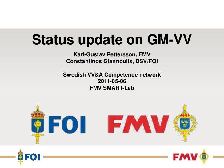 2011.05.06   status standardisering gm-vv cogia