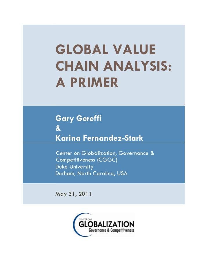 Global Value Chain Analysis by Gary Gereffi & Karina Fernandez-Stark