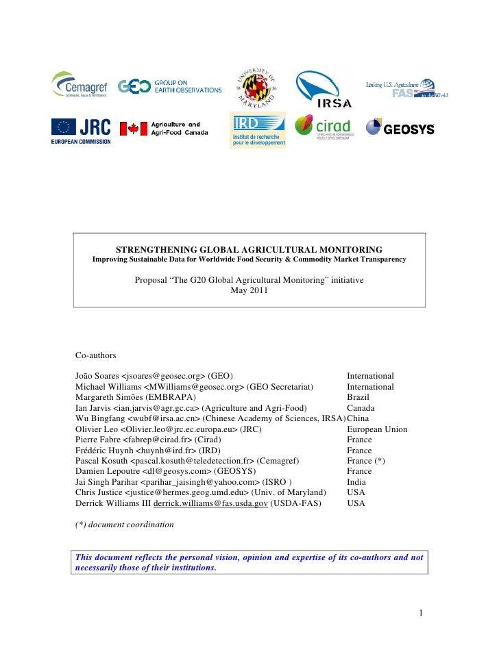 Iniciativa para el Monitoreo de la Agricultura Global