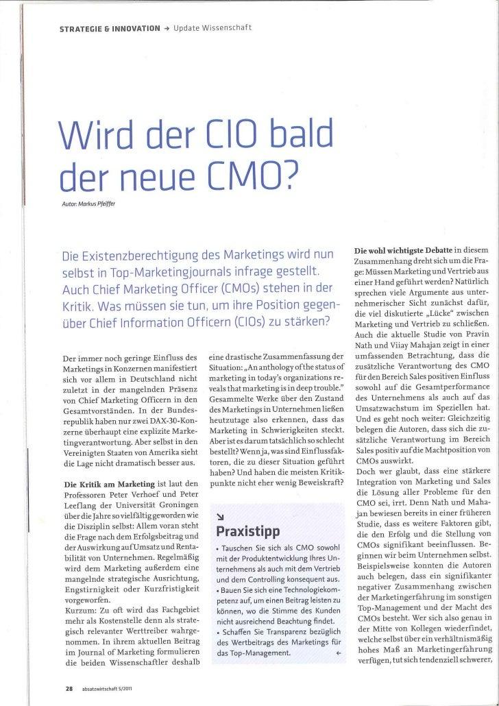 Wird der CIO bald der neue CMO?