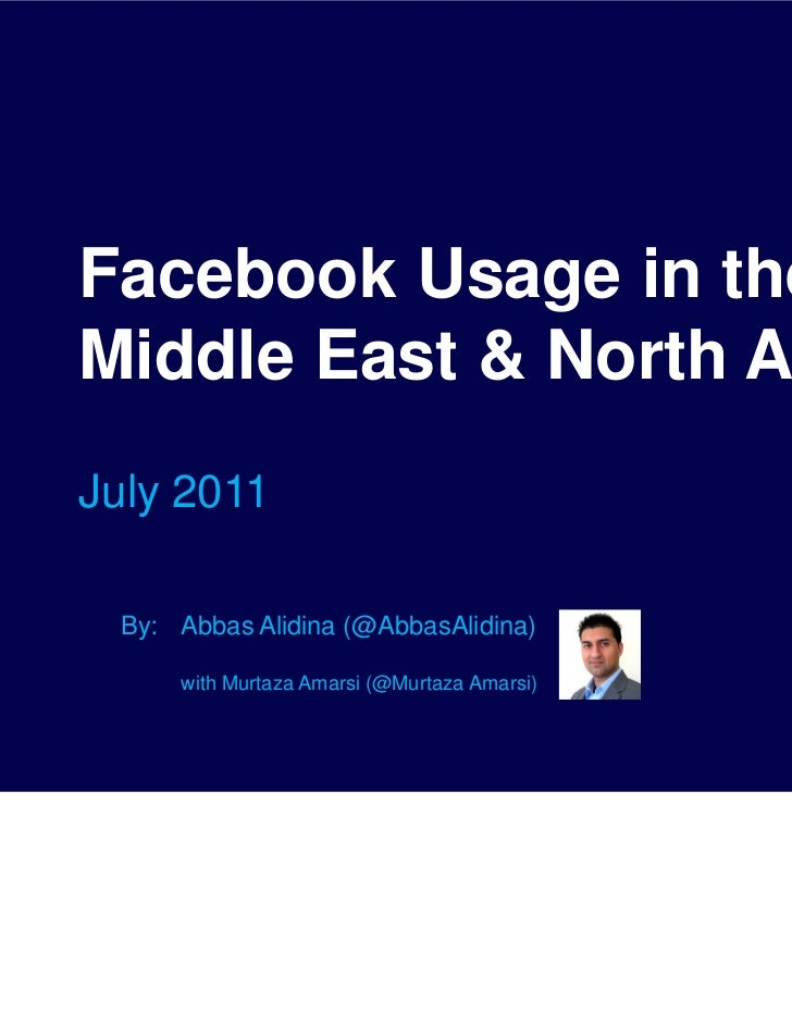 Facebook Usage in the Middle East & North Africa - July 2011