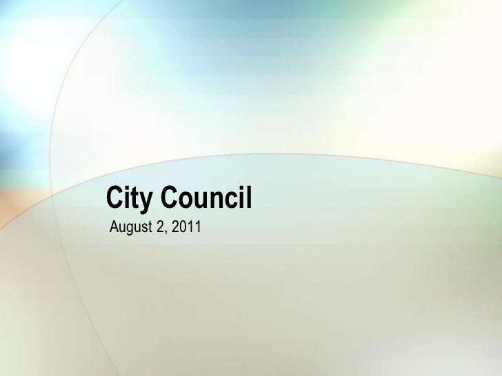 City Council August 2, 2011 Stormwater-Street Sweeping Presentation