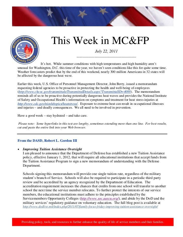 2011 07-22 this week in mcfp