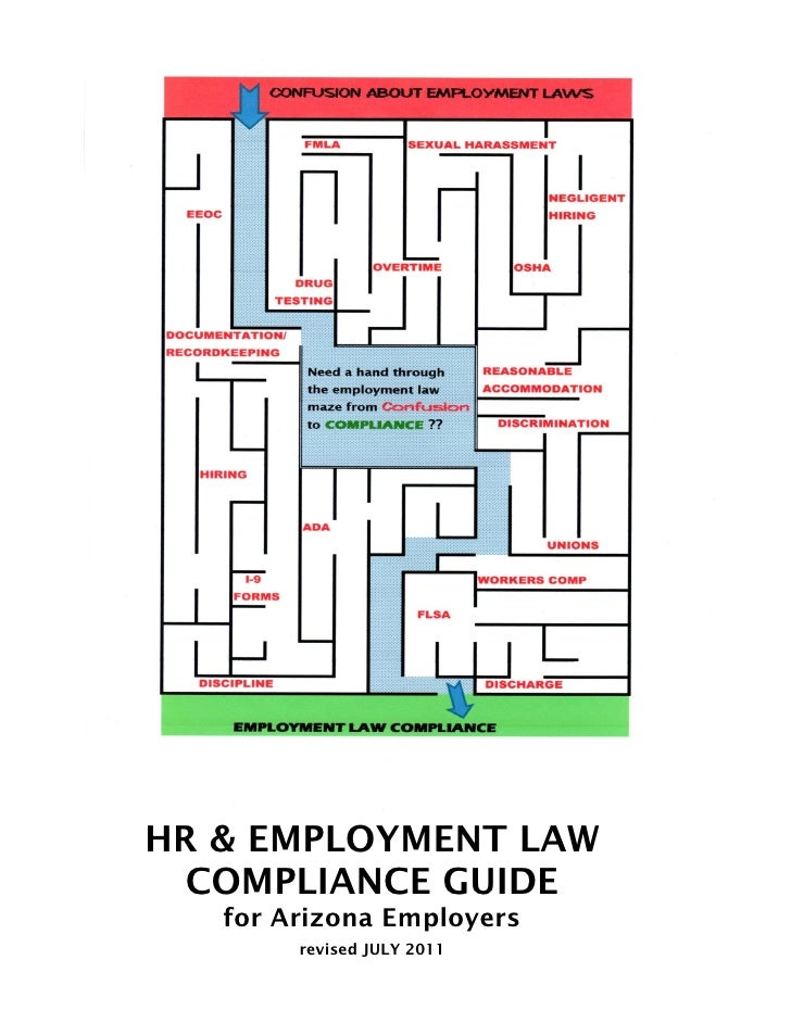 HR & EMPLOYMENT LAW  COMPLIANCE GUIDE   for Arizona Employers        revised JULY 2011