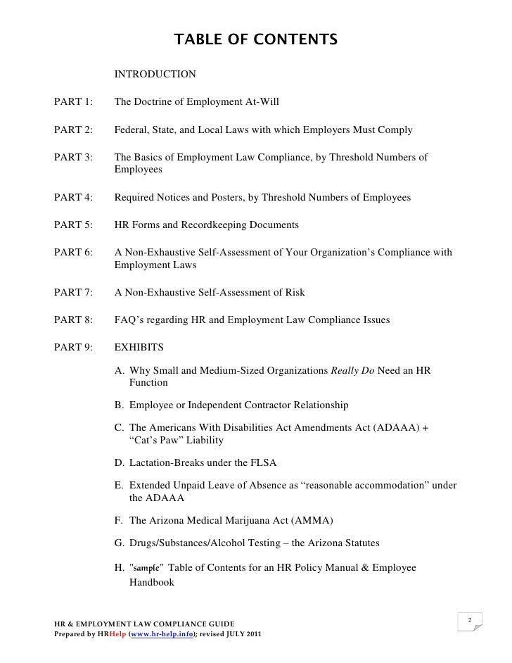 HR Manual amp Employee Handbook  HR Letter Formats