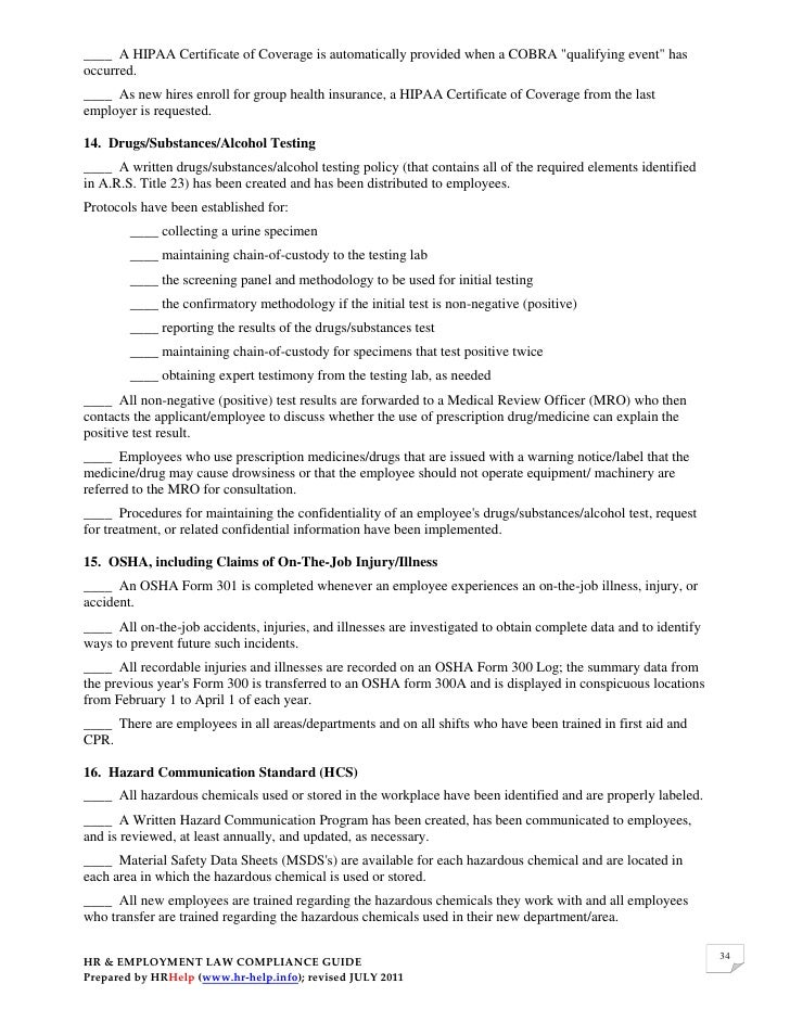 employment law compliance essay example View full essay employment law compliance plan earl la this memo will address several employment laws several of these are laws will be specific to texas and.