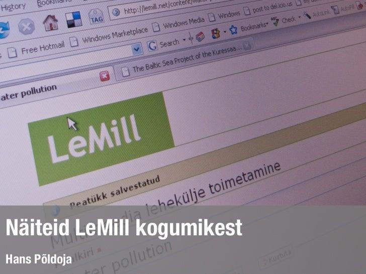 Näiteid LeMill kogumikest