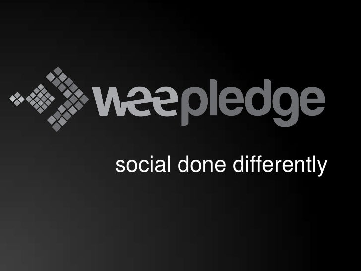 Introduction to WeePledge