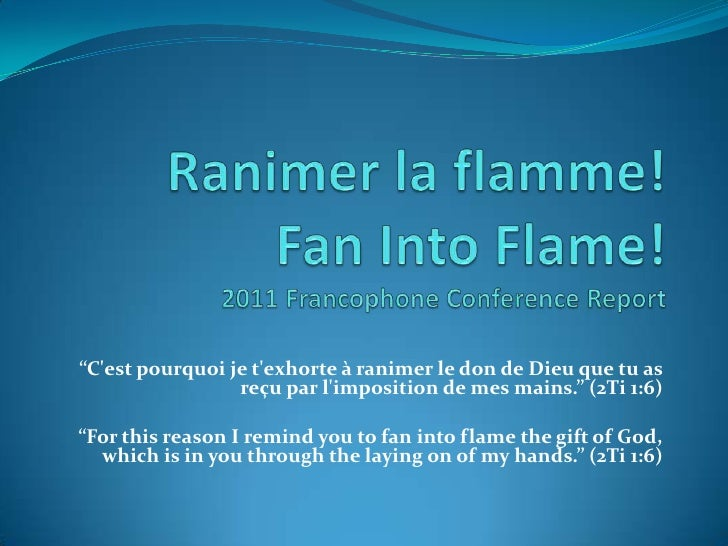 2011 Francophone Summer Bible Conference Report (August, 2011)