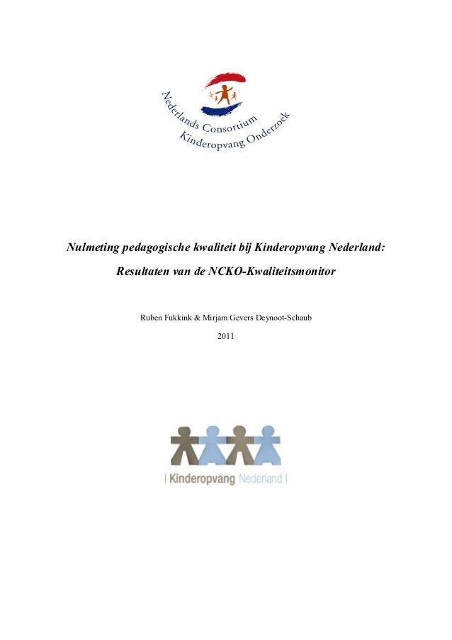 2011 09-08 -kwaliteitsmonitor_kinderopvang_nederland_juni_2011
