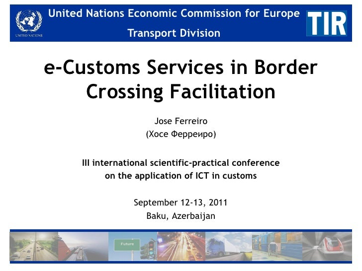 United Nations Economic Commission for for Europe   United Nations Economic Commission Europe                 Transport Di...