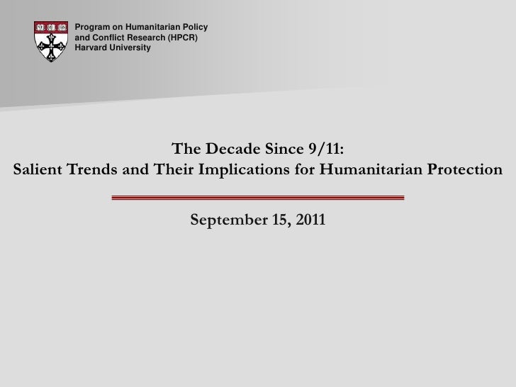 Live Seminar 36: The Decade Since 9/11: Salient Trends and Their Implications for Humanitarian Protection