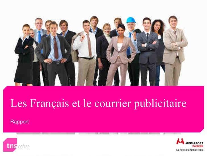 Les Français et le courrier publicitaireRapport