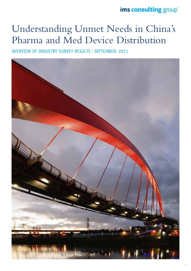Understanding Unmet Needs in China's Pharma and Med Device Distribution