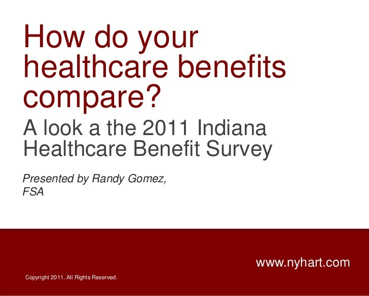 How do your healthcare benefits compare?<br />A look a the 2011 Indiana Healthcare Benefit Survey<br />Presented by Randy ...