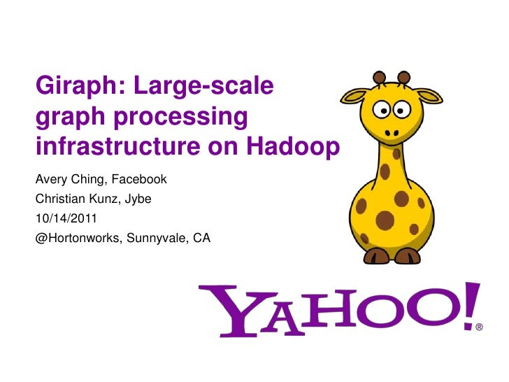 Giraph: Large-scalegraph processinginfrastructure on HadoopAvery Ching, FacebookChristian Kunz, Jybe10/14/2011@Hortonworks...