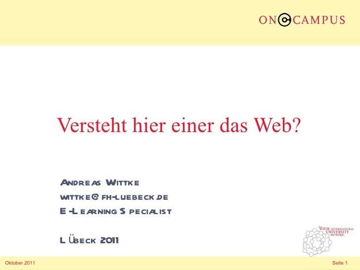 Versteht hier einer das Web?