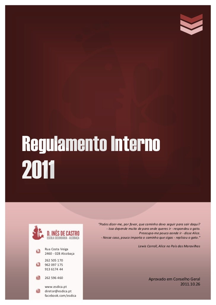 2011.10.26 regulamento interno