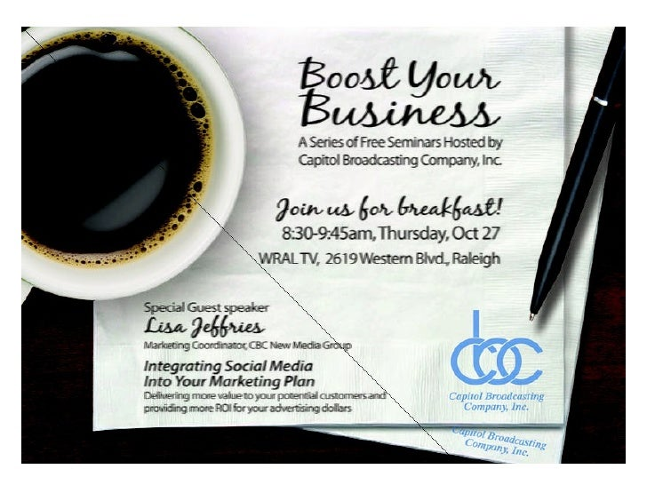 Capitol Broadcasting Company - Boost Your Business - October 2011