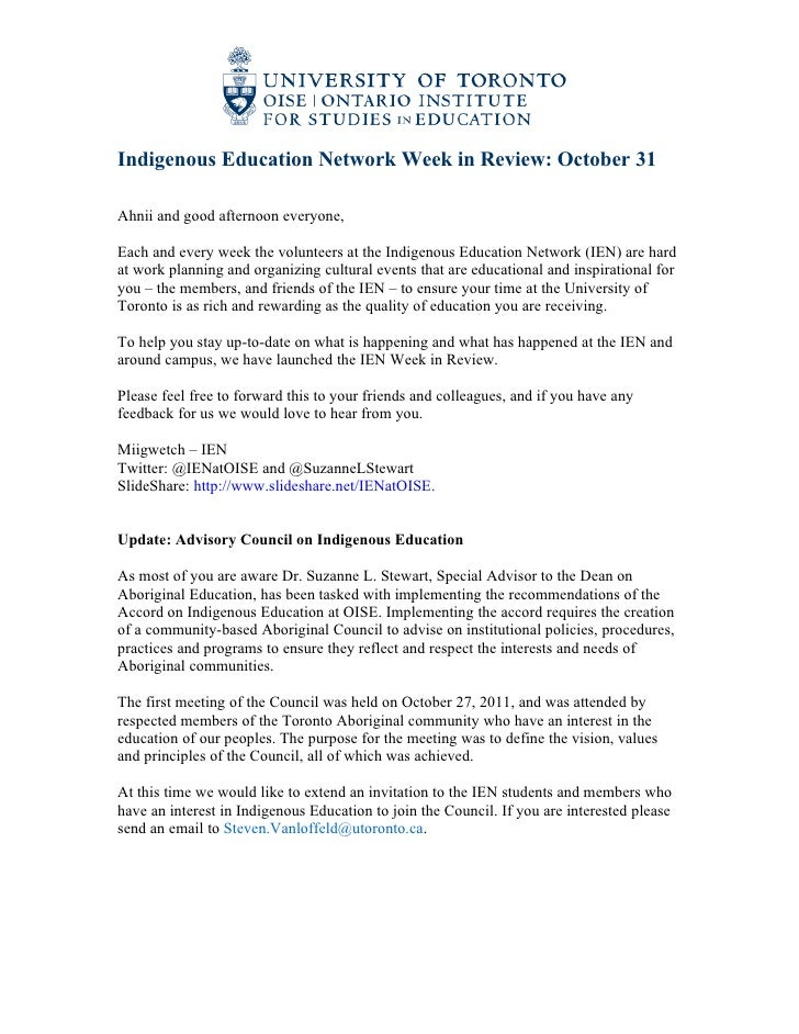 IEN Week in Review Oct 31