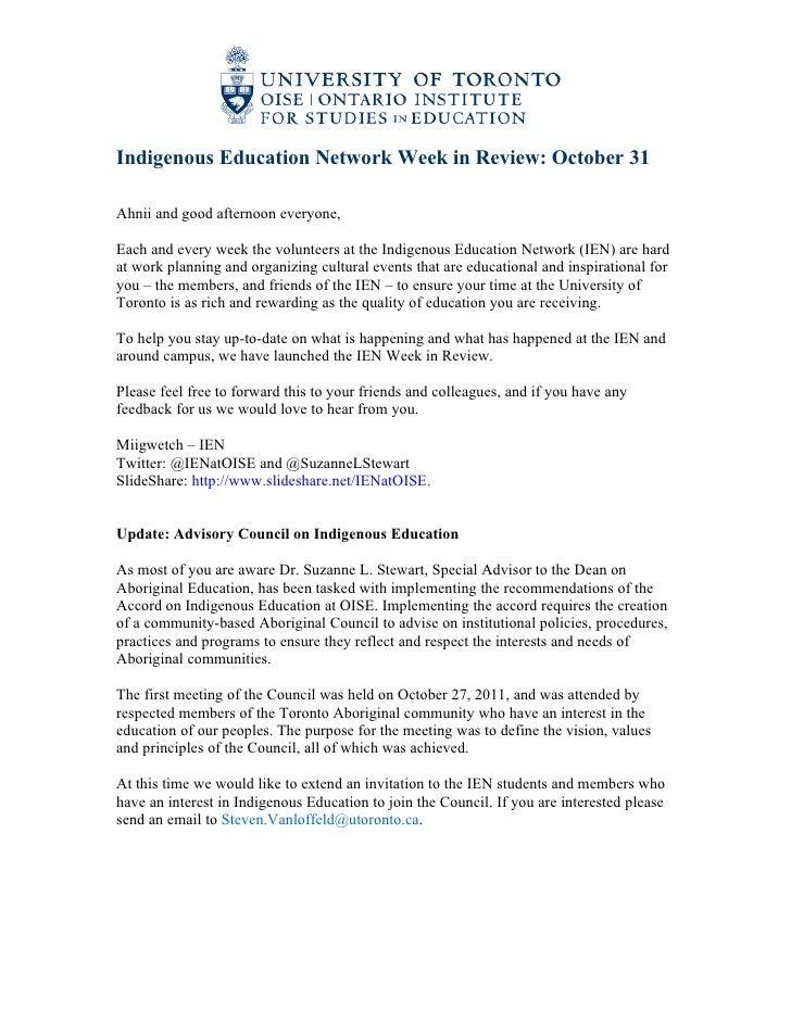 IEN Week in Review Oct 31