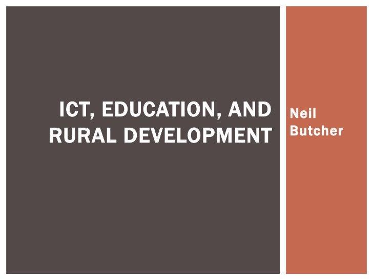 Neil Butcher & Associates Presentation