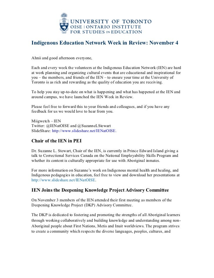 IEN Week in Review, Nov 4