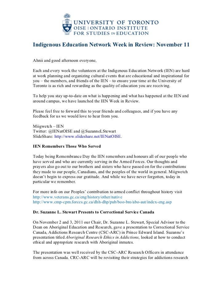 IEN Week in Review Nov 11