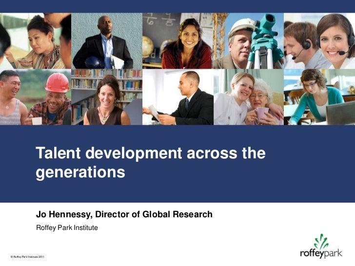 Talent management across the generations