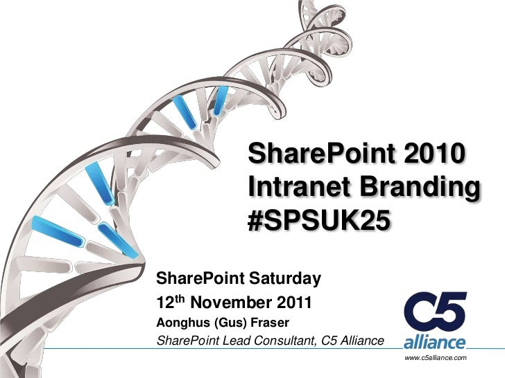 SharePoint Saturday UK - Intranet Branding for Developers