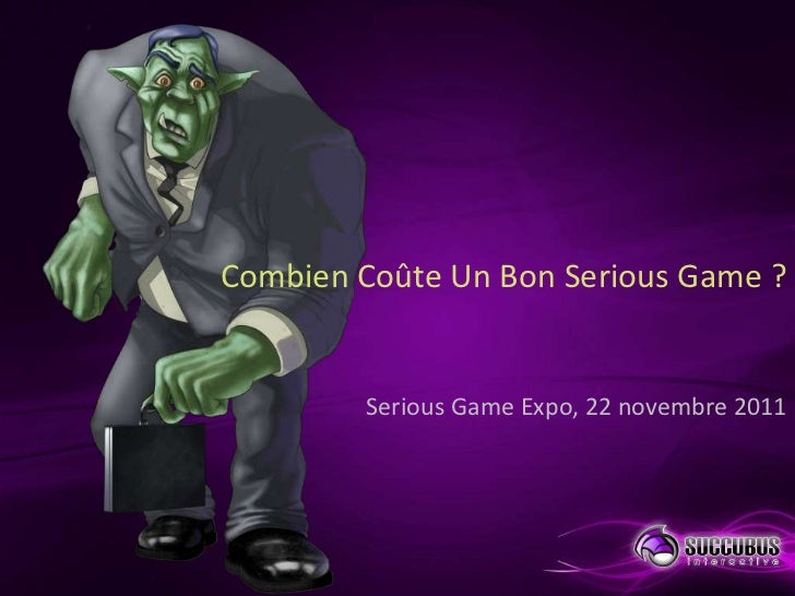 Combien co te un bon serious game for Combien coute un carrossier