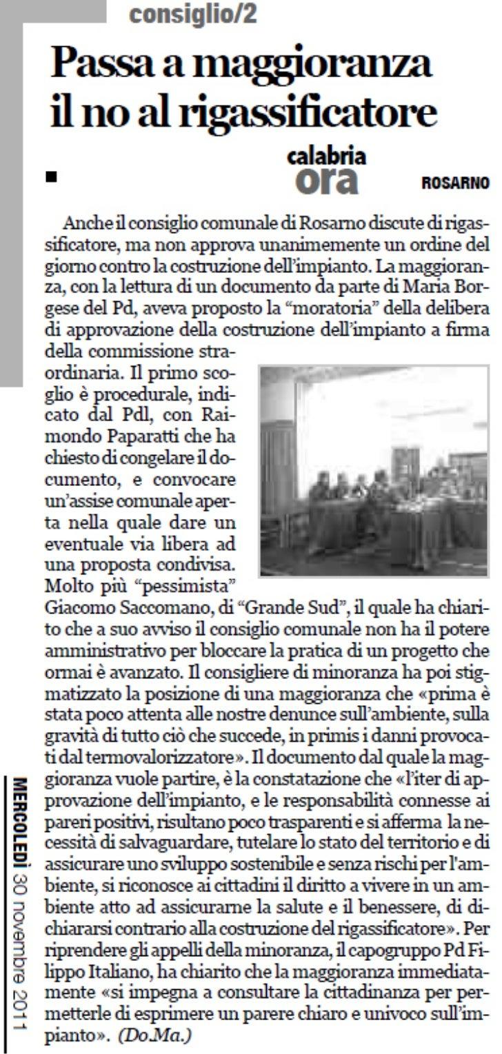 CalabriaOra del 30/11/2011