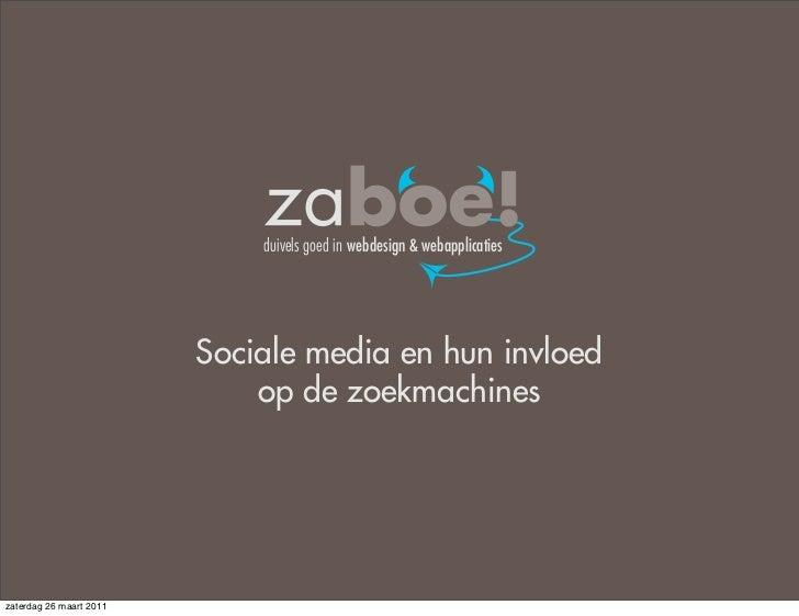 Invloed van sociale media op zoekmachines