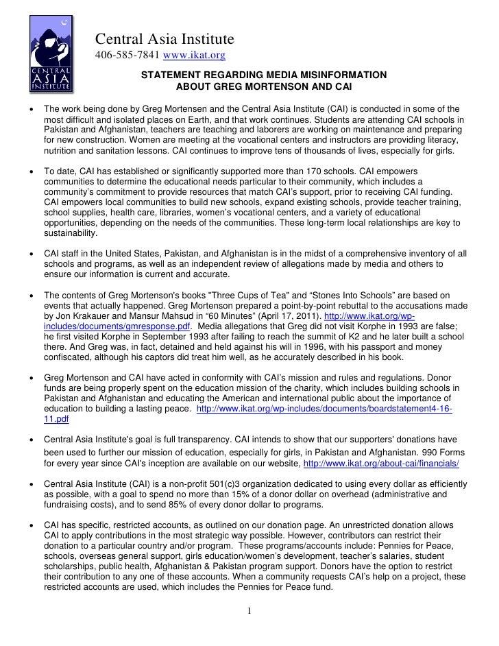 2011 CAI Press Release 4.25.11