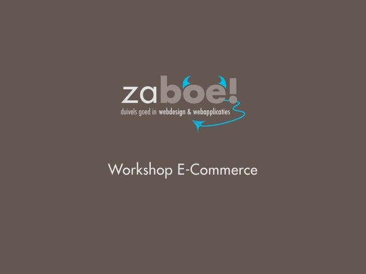 duivels goed in webdesign & webapplicatiesWorkshop E-Commerce