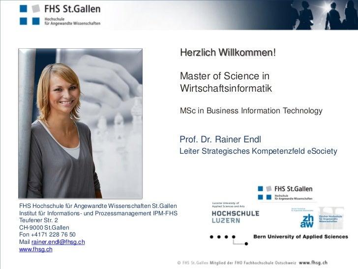 Herzlich Willkommen!                                                           Master of Science in                       ...