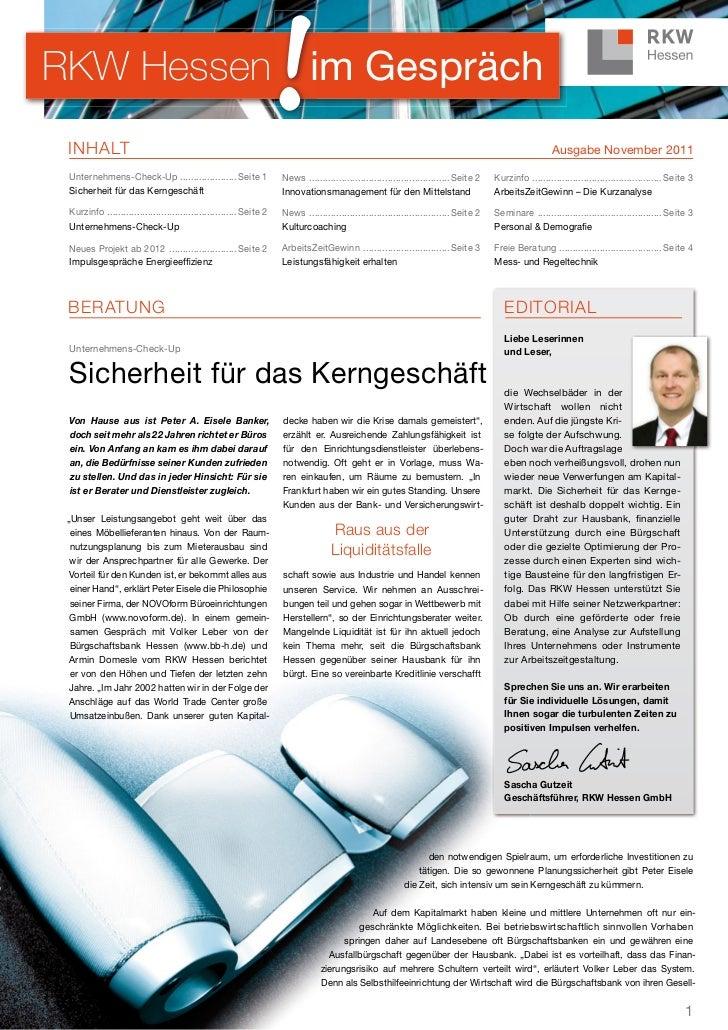 RKW Hessen im Gespräch INHALT                                                                                             ...