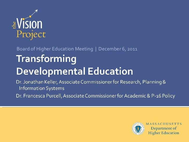 Transforming Developmental Education