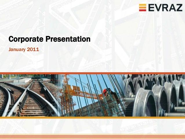 Corporate PresentationJanuary 2011