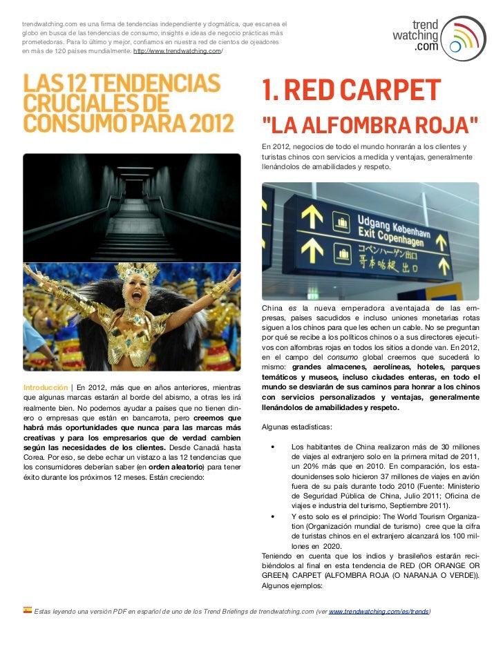 Las 12 tendencias cruciales de consumo para 2012 de Trenwatching