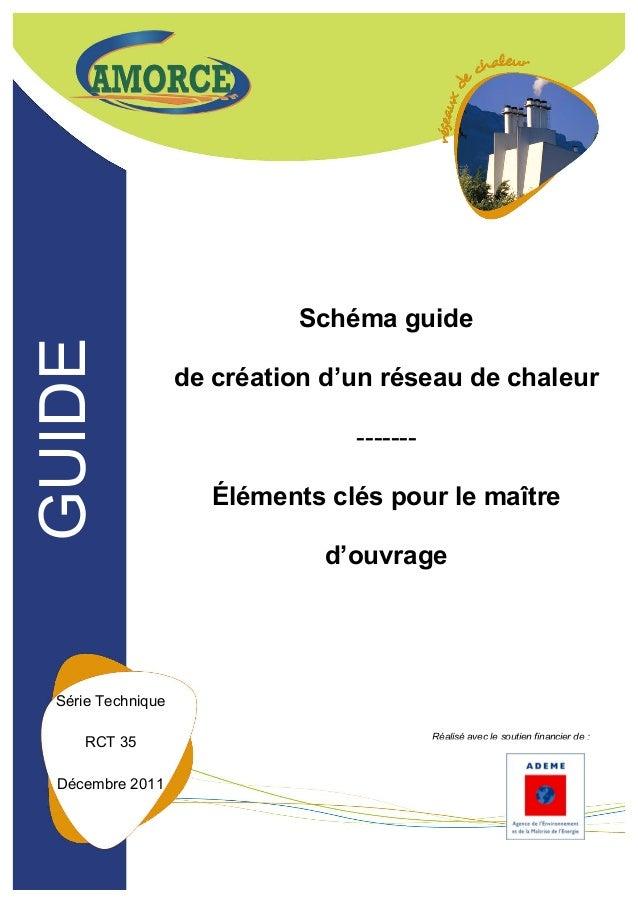 AMORCE/ADEME Schéma Guide de création d'un réseau de chaleur – RCT 35 1/29 Schéma guide de création d'un réseau de chaleur...