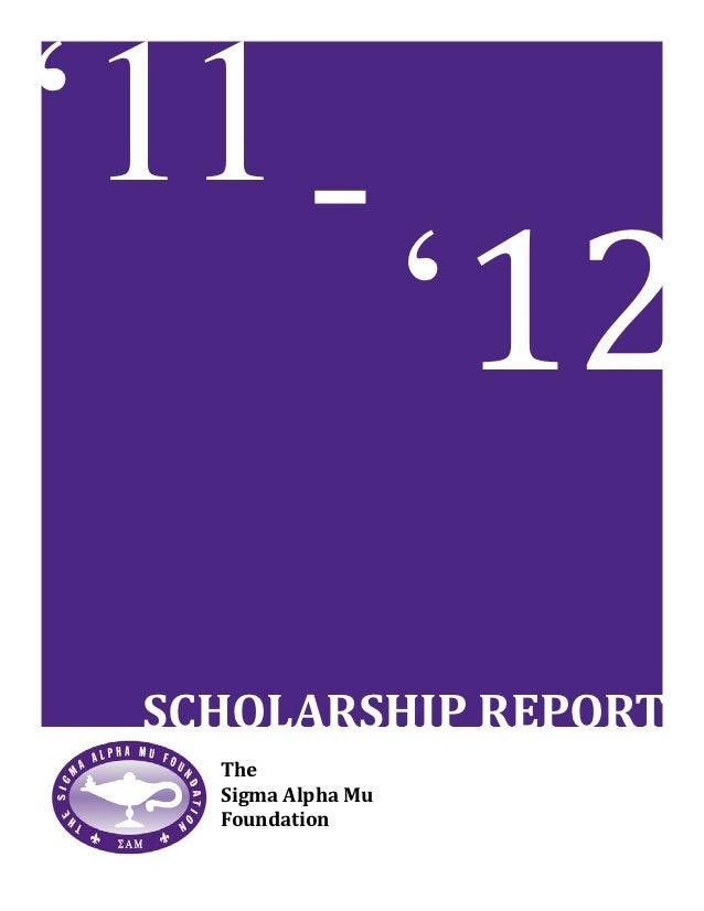 2011-12 Scholarship Report
