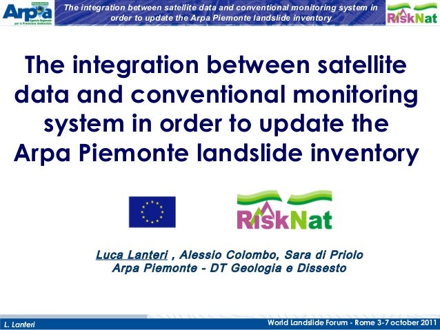 The integration between data and conventional monitoring system in order to update the Arpa Piemonte landslide inventory