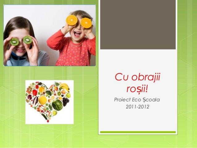 Cu obrajii roșii! Proiect Eco Școala 2011-2012